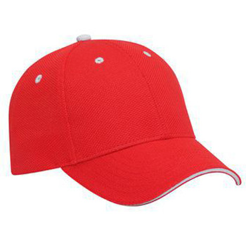 OTTO Polyester Pique Knit Sandwich Visor Low Profile Style Cap