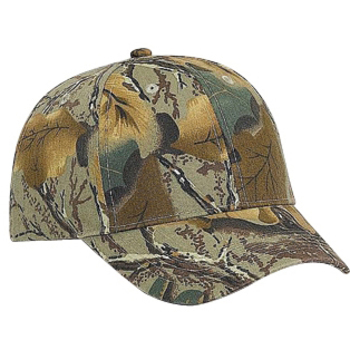 Otto Camouflage Brushed Cotton Twill Low Profile Style Caps