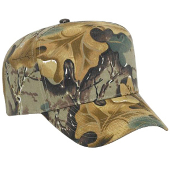 Otto Camouflage Brushed Cotton Twill Low Crown Golf Style Caps
