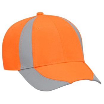 Otto Reflective Piping Design Neon Deluxe Polyester Twill Low Profile Style Caps