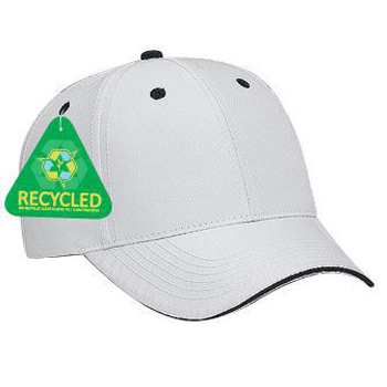 Otto Recycled Canvas Sandwich Visor Low Profile Style Caps