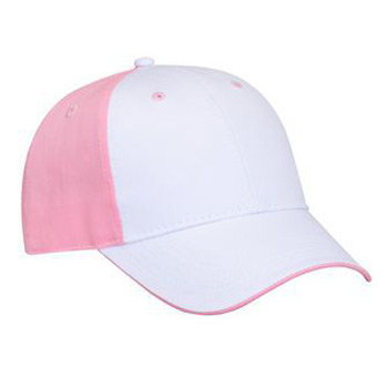Otto Cotton Twill Flipped Edge Visor Low Profile Style Caps
