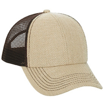 Otto Burlap Low Profile Style Mesh Back Caps