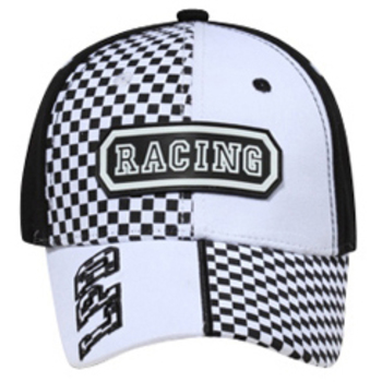Otto Racing Rubber Patch Checkered Panels Caps