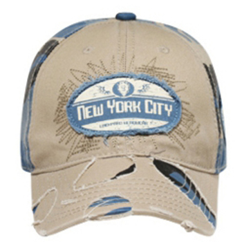 Otto New York City Patch Distressed Visor Caps