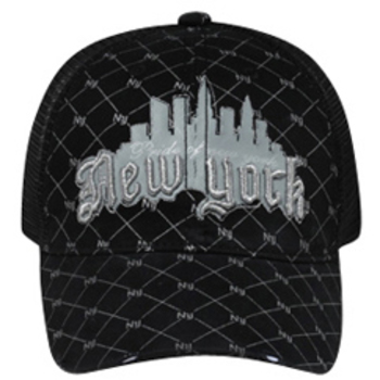 Otto 3D Metallic New York Mesh Back Caps