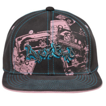 Otto Lackpard Flex Printed Tape Design Flat Visor Caps