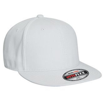 OTTO Otto Flex Stretchable Brushed Cotton Twill Flat Visor Pro Baseball Cap (S/M) (L/XL)
