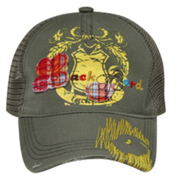 Otto Youth Lackpard Plaid Patches Mesh Back Caps