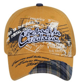 Otto Be Back In Circulation/Plaid Design On Visor Caps