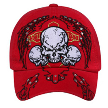 Otto 3 Skulls Design With Rhinestones Caps