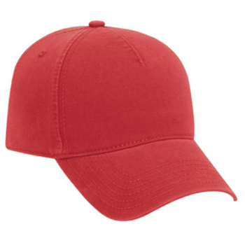Otto Ultra Soft Superior Garment Washed Brushed Cotton Twill Five Panel Low Profile Style Caps