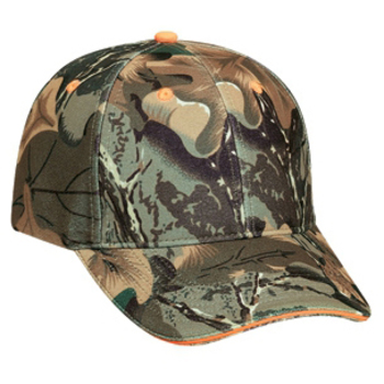 Otto Camouflage Polyester Sandwich Visor Low Profile Style Caps