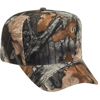 Otto Camouflage Polyester Low Crown Golf Style Caps