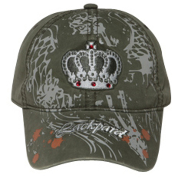 Otto Crown With Rhinestones On Printed Caps