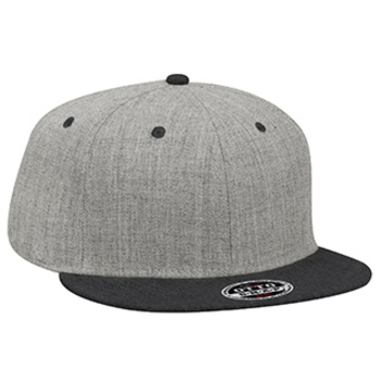 Otto Heather Wool Blend Flat Visor Pro Style Snapback Caps