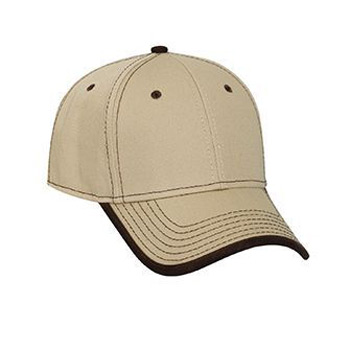 Otto Superior Cotton Twill Trim Edge Visor Contrast Stitching Low Profile Style Caps