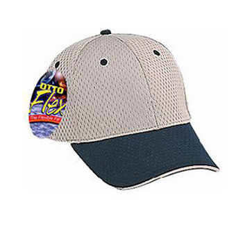 OTTO Stretchable Polyester Pro Mesh Sandwich Visor OTTO FLEX Six Panel Low Profile Baseball Cap