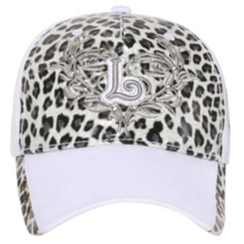 Otto 3D L Design On Animal Printed Front Caps