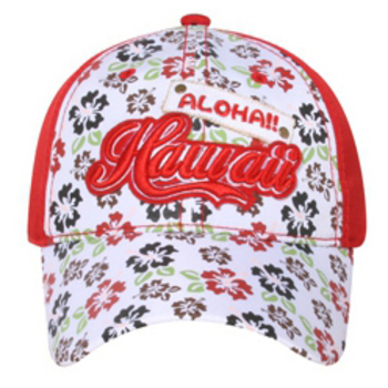 Otto 3D Hawaii On Flower Printed Front Caps