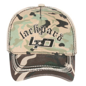 Otto Embroidered Lackpard Lpd On Camo Front Caps