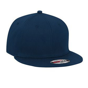 OTTO Stretchable Superior Cotton Twill Round Flat Visor OTTO FLEX Six Panel Pro Style Baseball Cap