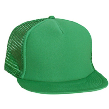 Otto Polyester Foam Front Flat Visor High Crown Golf Style Mesh Back Caps