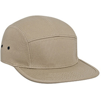 Otto Superior Cotton Twill Square Flat Visor With Binding Edge Five Panel Camper Style Caps