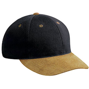 Otto Suede Visor Brushed Bull Denim Pro Style Caps