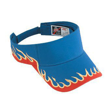 OTTO Flame Pattern Cotton Twill Sun Visor